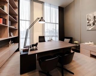 79平现代风复式楼欣赏书房书架