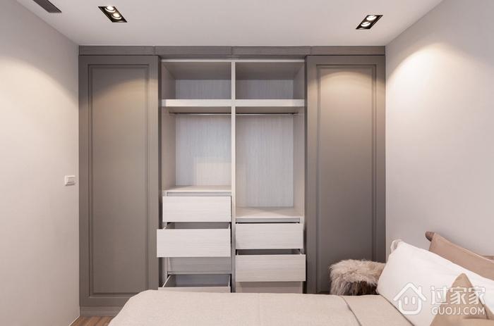 78平现代三居室欣赏卧室衣柜