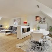 北欧风格设计效果客厅隔断