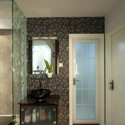 现代风格住宅装修图洗手台
