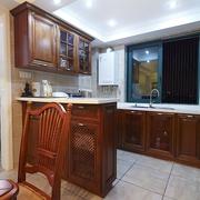 98平美式稳重住宅欣赏厨房效果