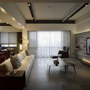 品味高端简约住宅欣赏客厅全景