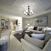 优雅新古典设计客厅吊顶