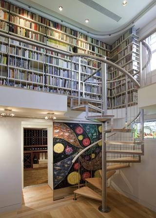 白色现代度假别墅欣赏书房陈设