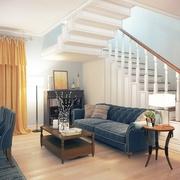 223平美式乡村别墅欣赏客厅设计