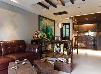 中式风格三室两厅欣赏