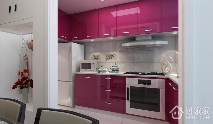 102平简约三居室设计欣赏厨房橱柜设计