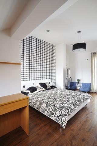 现代风格装修设计卧室全景