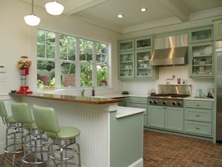 清爽白色美式别墅欣赏厨房