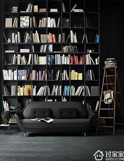 还在纠结墙面用什么材料?国外已经开始流行书架墙了!高大上