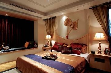 98平东南亚风格住宅欣赏卧室效果