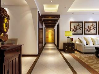 中式走廊吊顶装修 儒雅时尚