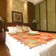 东南亚风格住宅卧室床品