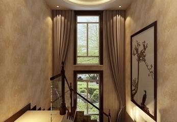 112平新中式风格住宅欣赏楼梯间