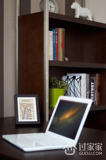 120平三室两厅简约欣赏书房效果