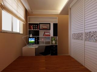 时尚书房组合书桌架设计