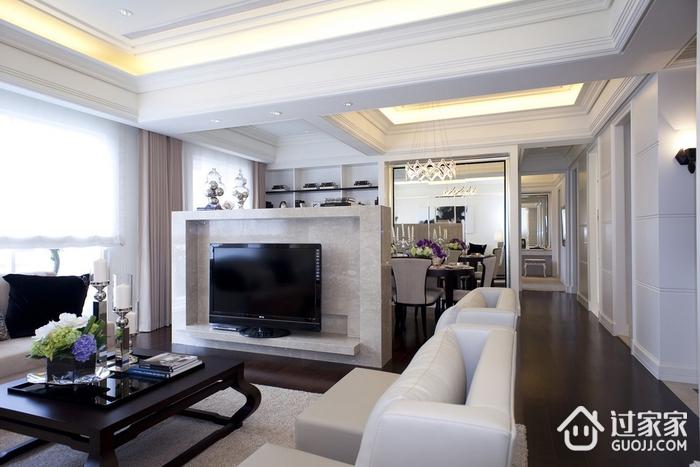 新古典三居室样板房案例欣赏