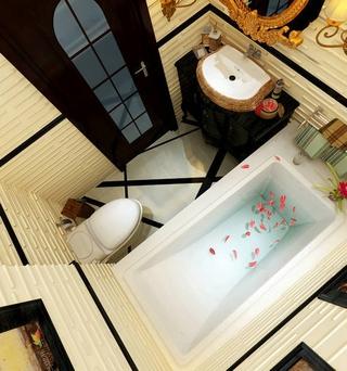 新古典四居室案例欣赏卫生间摆件