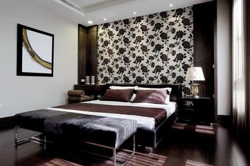 新中式效果图住宅欣赏卧室