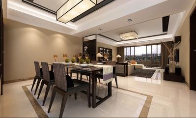 新中式餐厅餐桌装修效果图 时尚家居必备