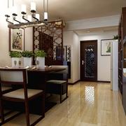 112平中式风格住宅欣赏餐厅