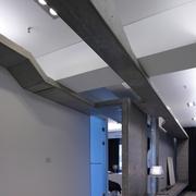 现代装修风格客厅楼面梁