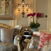 温馨浪漫客厅灯饰装饰效果图