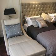 欧式风格复式楼卧室单人沙发