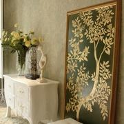 新古典复式设计卧室装饰画