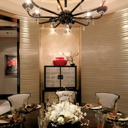 豪华新古典餐厅小橱柜