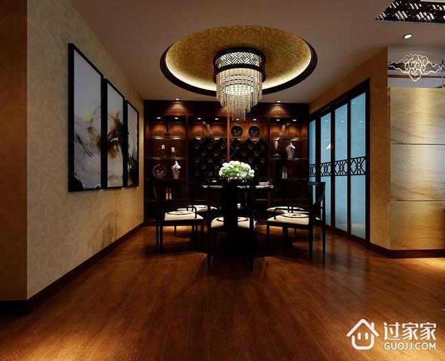中式风格复式楼效果图欣赏