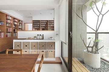 简约白色公寓效果图欣赏厨房