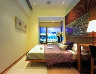 92平简约三居室欣赏卧室吊顶