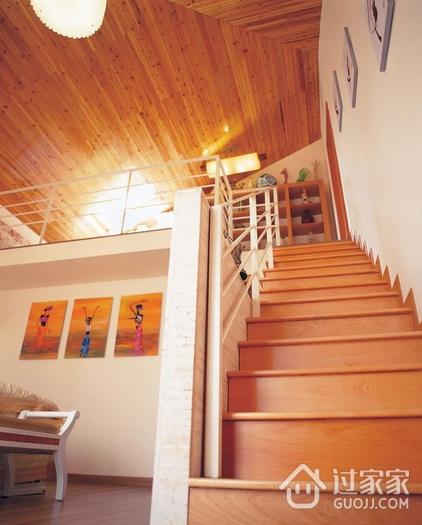 翡翠绿洲简约三居欣赏楼梯间