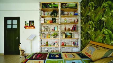 地中海效果图套图儿童房书架