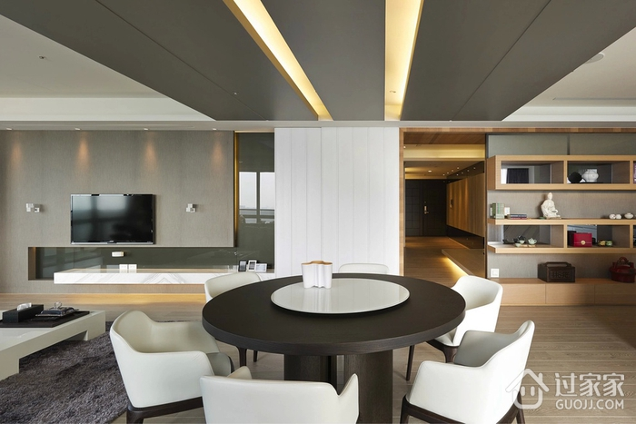 现代风三居室设计欣赏餐厅餐桌