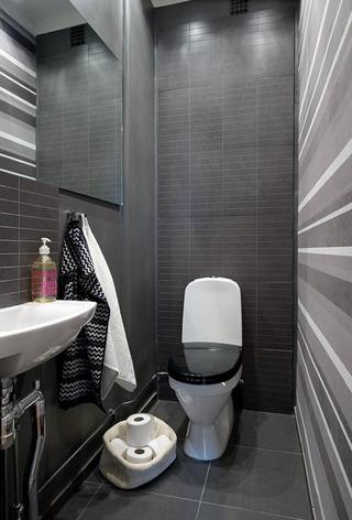 白色明亮北欧住宅欣赏卫生间