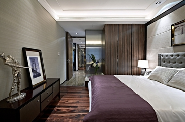 奢华新古典样板房欣赏卧室吊顶