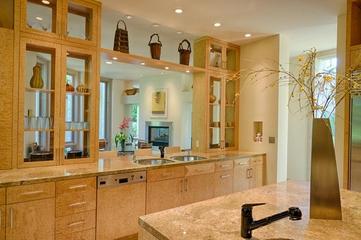 欧式风格别墅效果图厨房设计