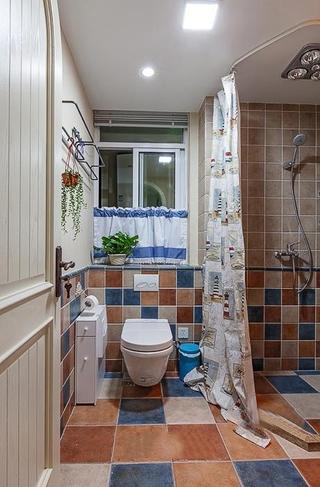 125平蓝白地中海住宅欣赏卫生间
