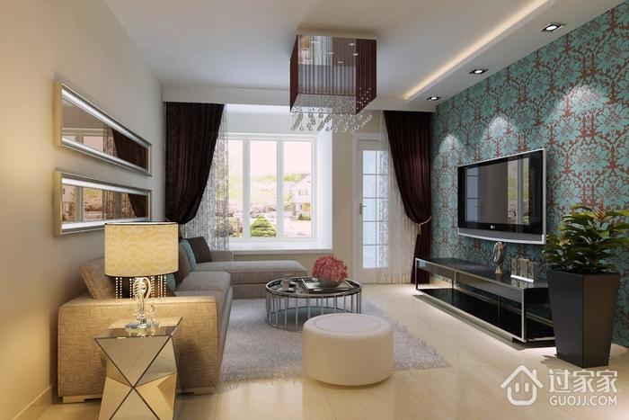 82平精致现代三居室装修案例