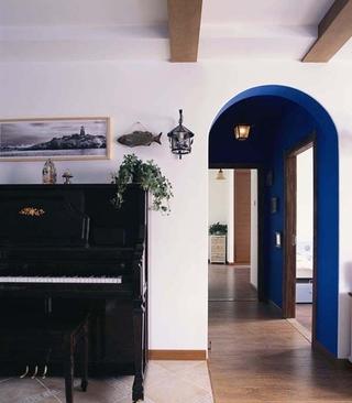 蓝色地中海住宅设计欣赏过道吊顶