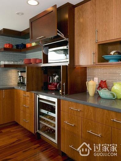厨房橱柜设计效果图 新中式经典木色