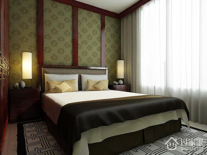 卧室背景墙装修效果图 精致木质三居室