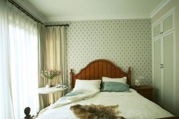 田园风雅致住宅欣赏卧室窗帘