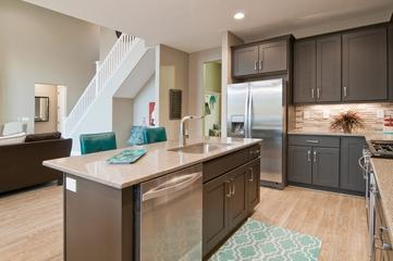 简约别墅设计效果套图厨房吧台