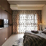 摩登现代卧室背景墙效果图