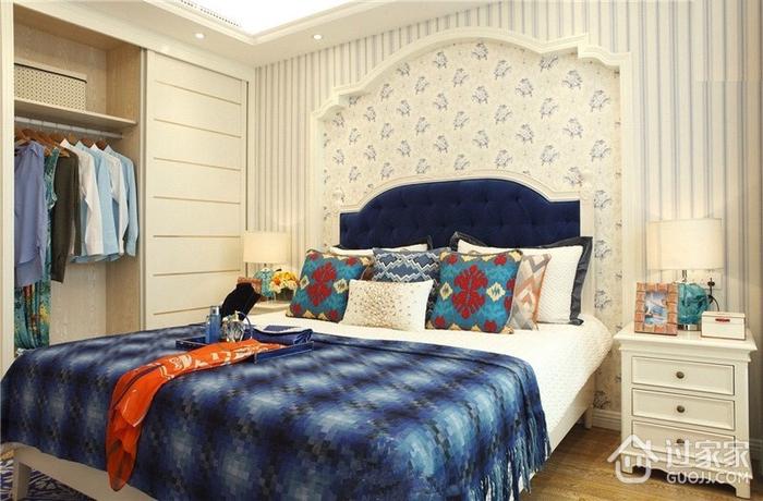 多彩地中海风格卧室衣柜图