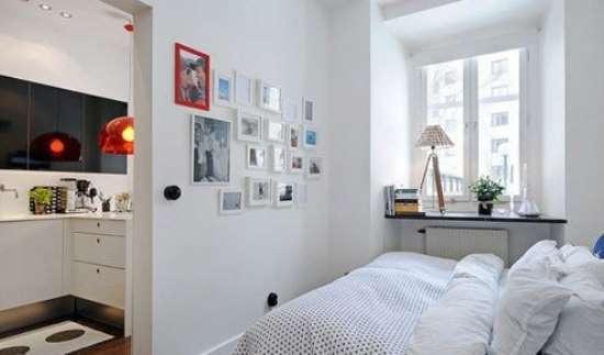 60平米小户型设计 红+黑搭配