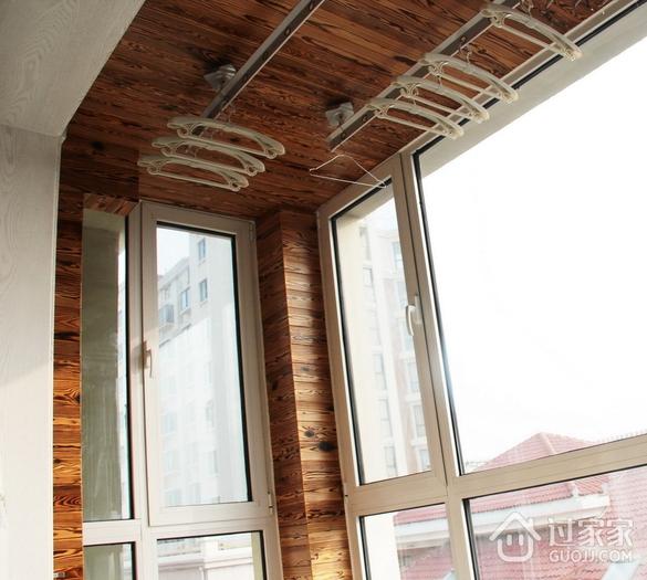 阳台吊顶装修效果图 木色家居
